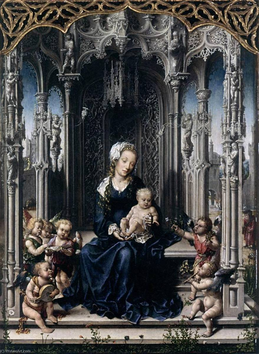 Virgin and Child with Musical Angels, 1510 by Jan Gossart | Museum Quality Reproductions | ArtsDot.com