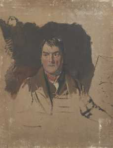 George Sheffield Senior - Portrait of a Man (unfini..