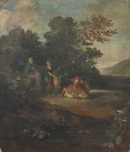 George Sheffield Senior - Pastoral Scene