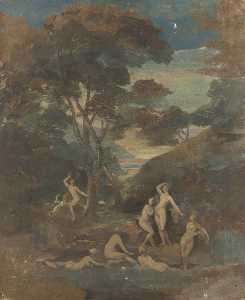 George Sheffield Senior - Classical Figures in a Wo..