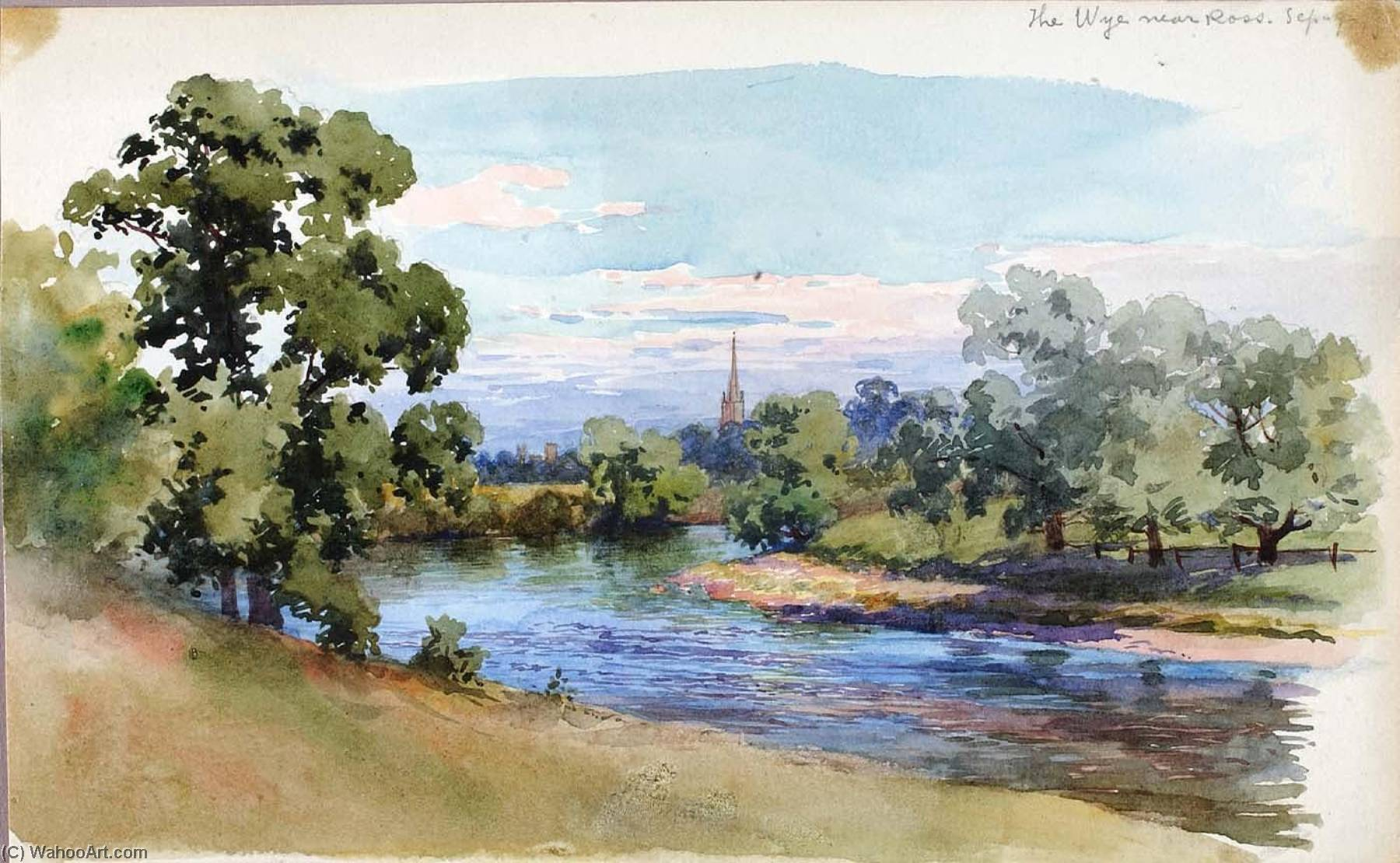 The Wye near Ross, 1899 by George Elbert Burr | Museum Quality Reproductions | ArtsDot.com