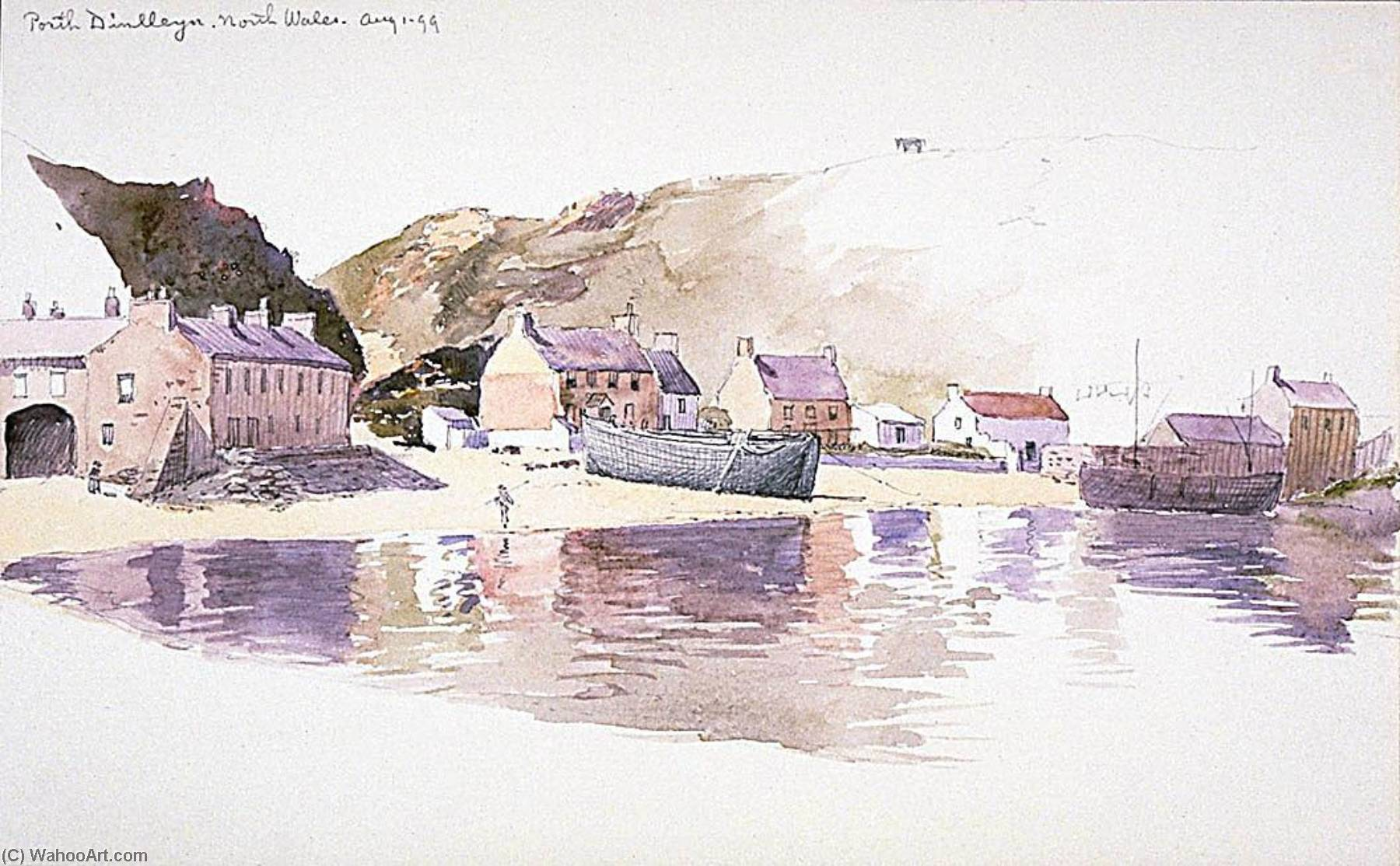 Porth Dinlleyn, North Wales, 1899 by George Elbert Burr | Museum Quality Reproductions | ArtsDot.com