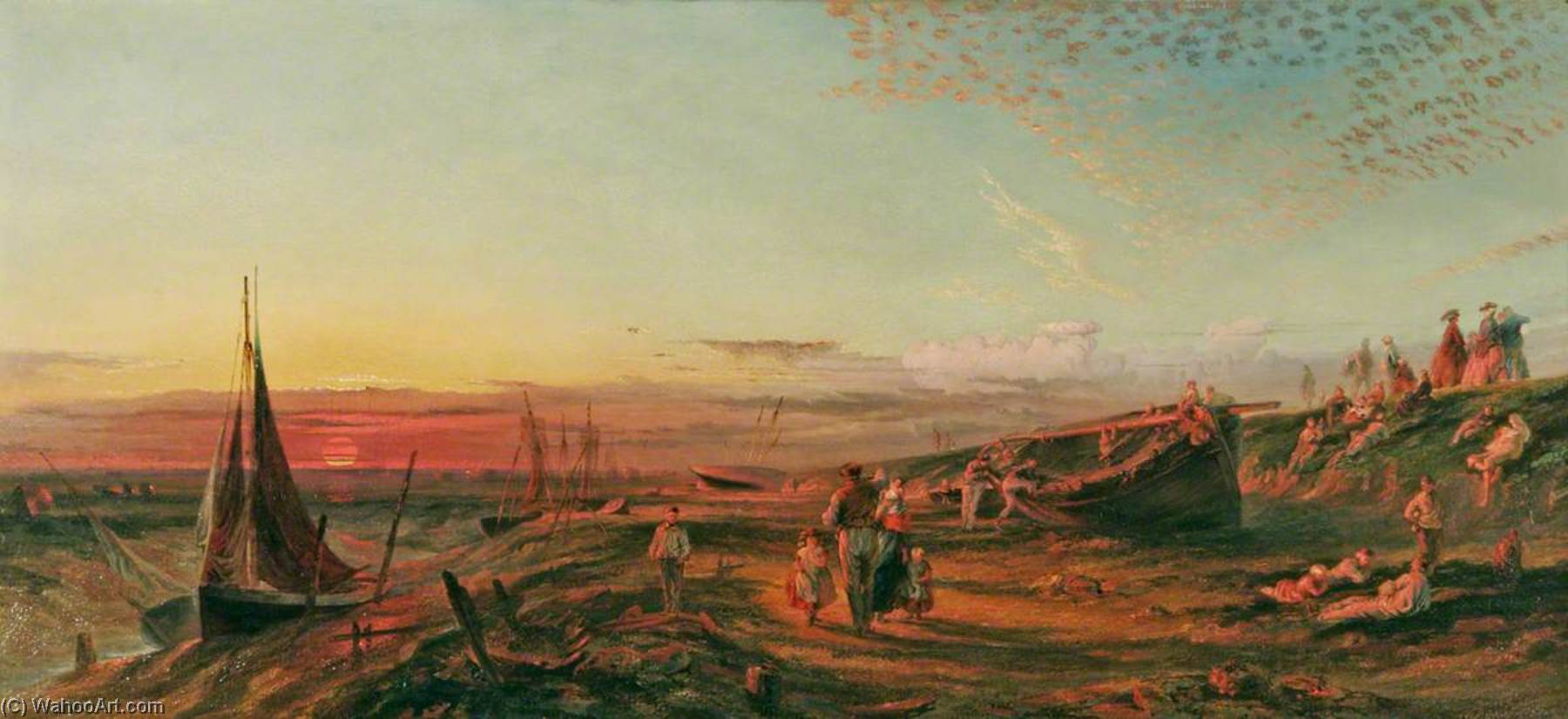 Sunset, North End, 1862 by Henry Baines | Painting Copy | ArtsDot.com