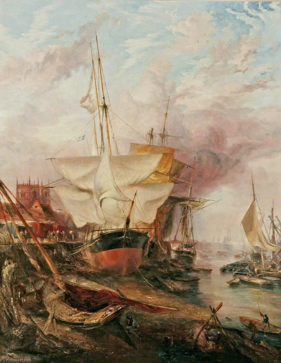 Quayside with `St Margaret`s`, 1865 by Henry Baines | Museum Art Reproductions | ArtsDot.com