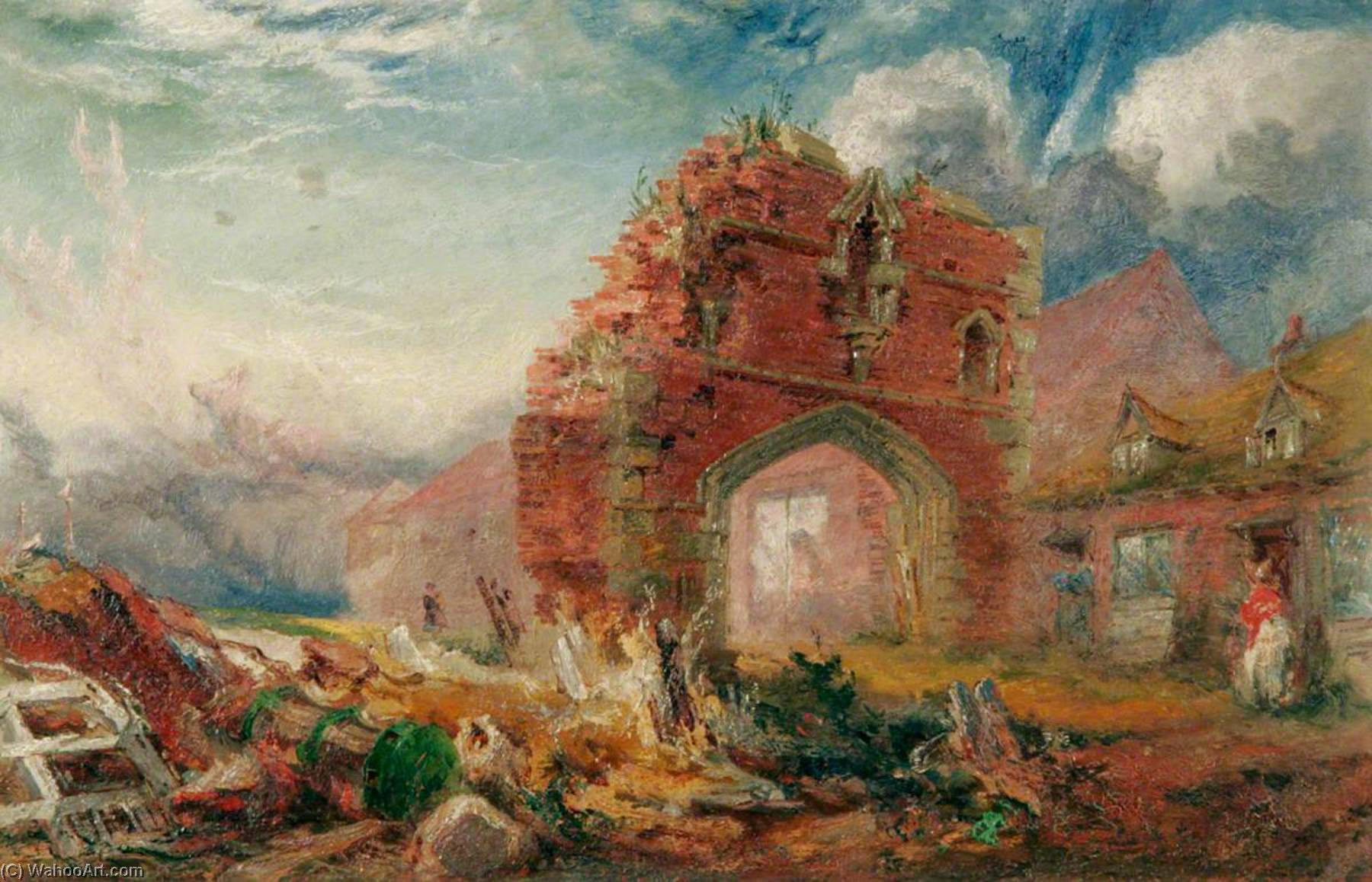 Friar`s Gate (Carmelite Arch) by Henry Baines | Oil Painting | ArtsDot.com