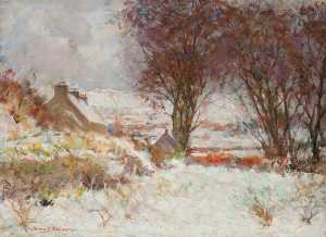 Henry Young Alison - Winter at Muckbrig
