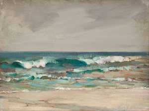 Henry Young Alison - Seascape with Breaking Waves