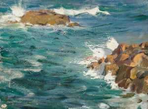 Henry Young Alison - Seascape with Rocks