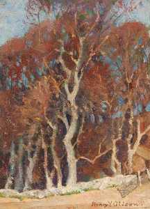 Henry Young Alison - Study of Trees