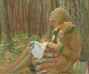 Louis Ginnett - Mary Sitting in a Wood