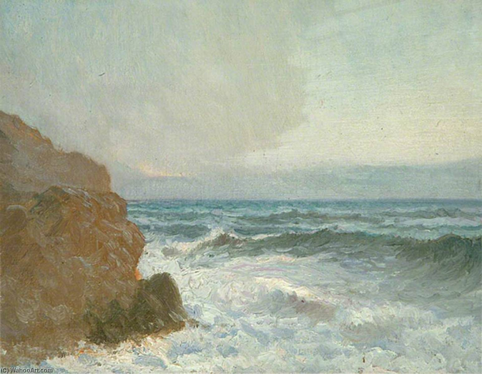 Seascape by Louis Ginnett | Museum Art Reproductions | ArtsDot.com