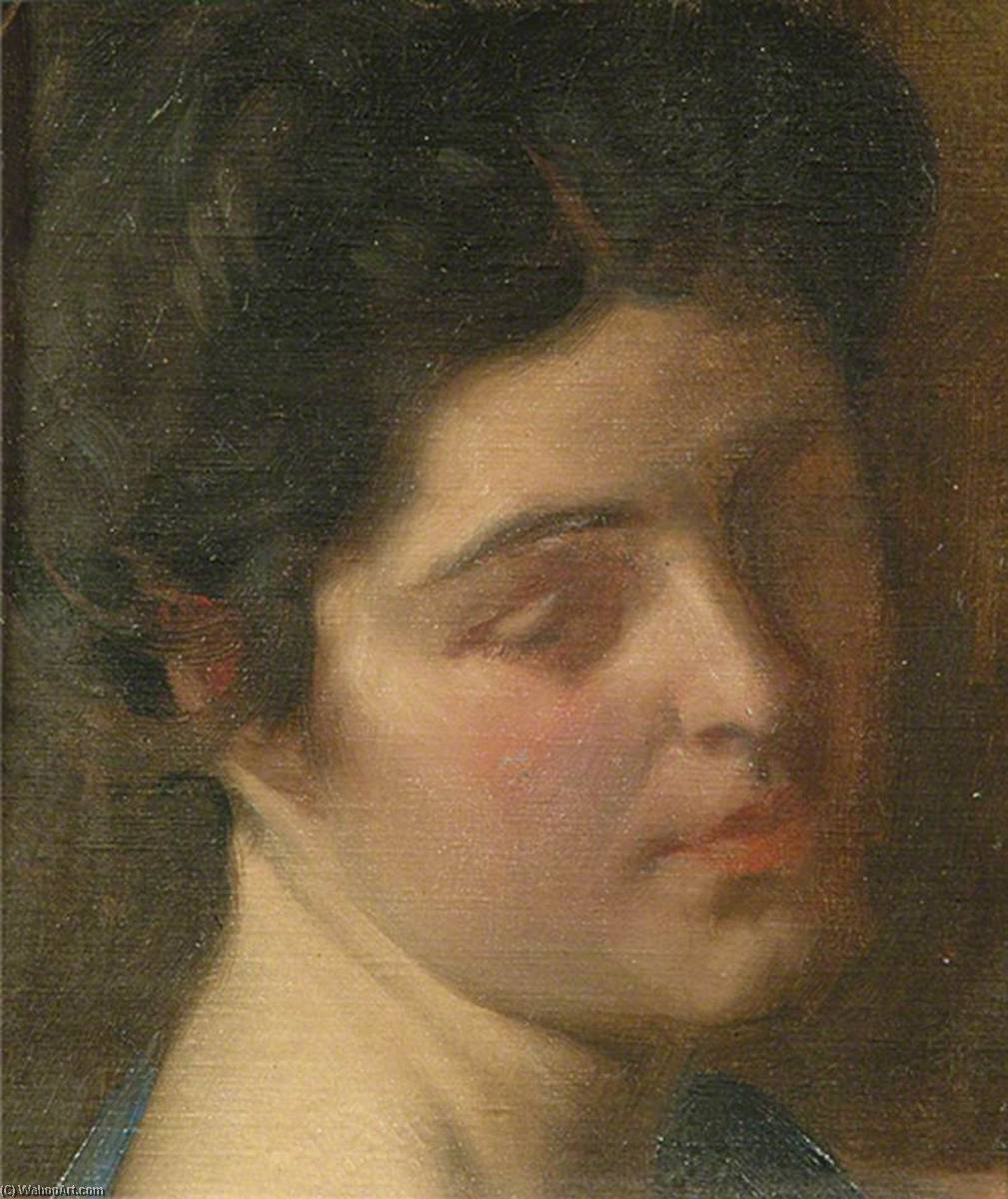 Head of an Unknown Lady by Louis Ginnett | Museum Art Reproductions | ArtsDot.com
