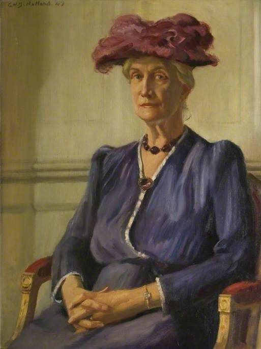 Order Museum Quality Reproductions : Millicent Lady Isham (d.1961), Mother of the 12th Bt Isham, 1947 by George Herbert Buckingham | ArtsDot.com