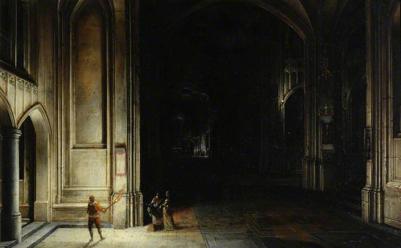 Interior of a Church with Figures by Hendrick Van Steenwijck The Younger | Art Reproduction | ArtsDot.com