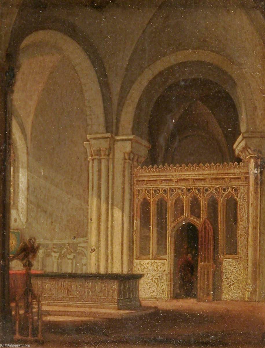 Jesus Chapel, Norwich Cathedral, 1840 by Henry Ninham | Museum Quality Reproductions | ArtsDot.com