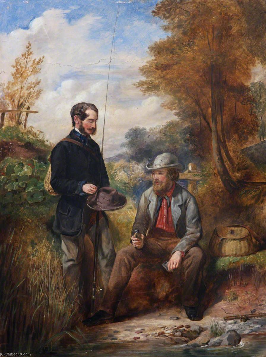 The Artist Fishing with His Brother, R. M. Ballantyne by John Ballantyne | Museum Art Reproductions | ArtsDot.com