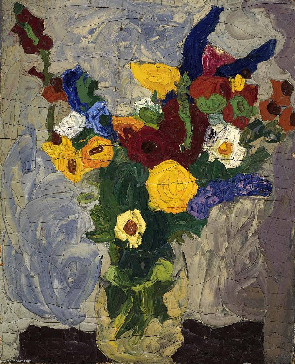 Still Life Bouquet, 1938 by William Henry Johnson (1901-1970, United States) | Museum Quality Reproductions | ArtsDot.com