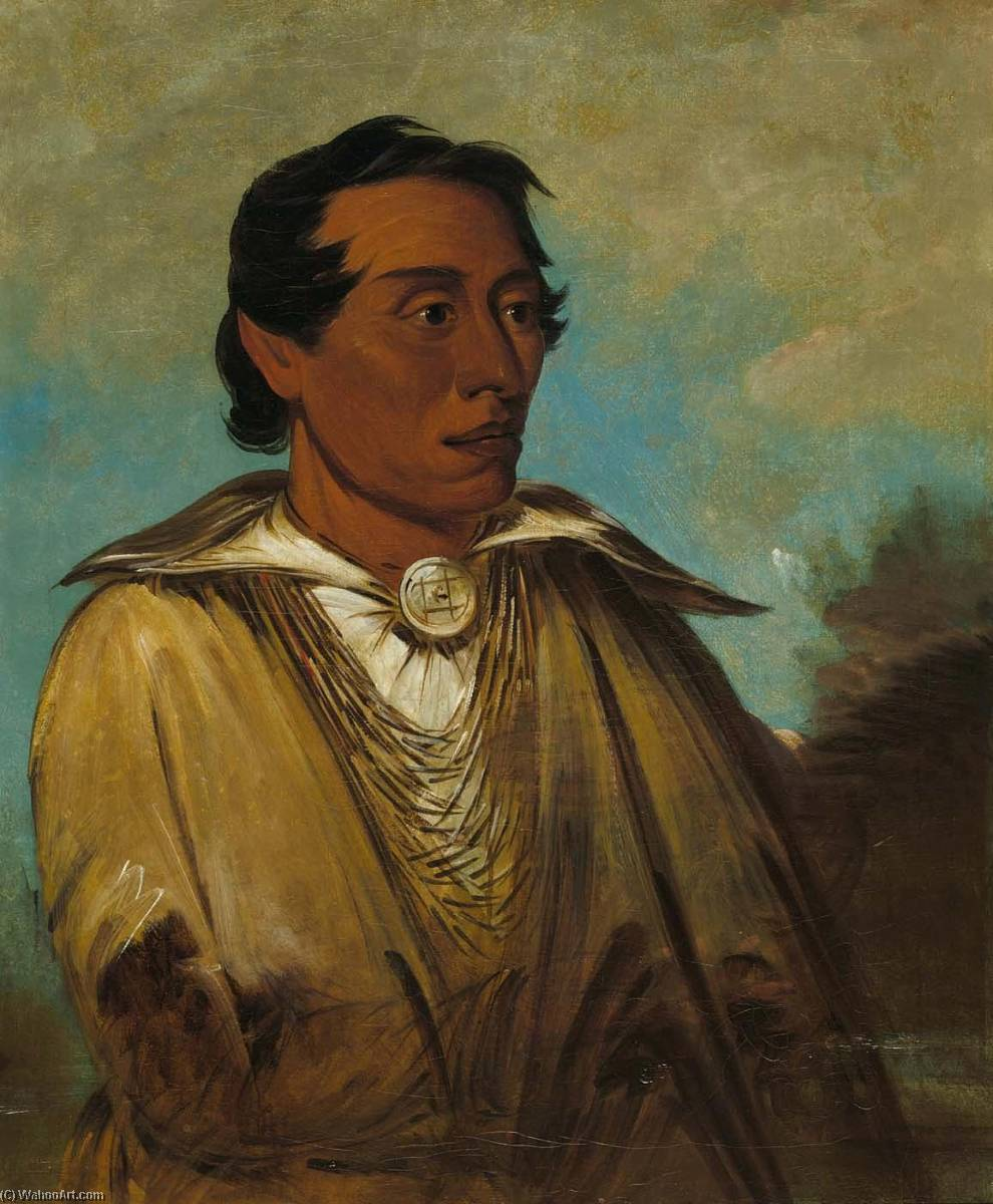 Kee án ne kuk, Foremost Man, Chief of the Tribe, 1830 by George Catlin (1796-1872, United States) | Museum Quality Reproductions | ArtsDot.com