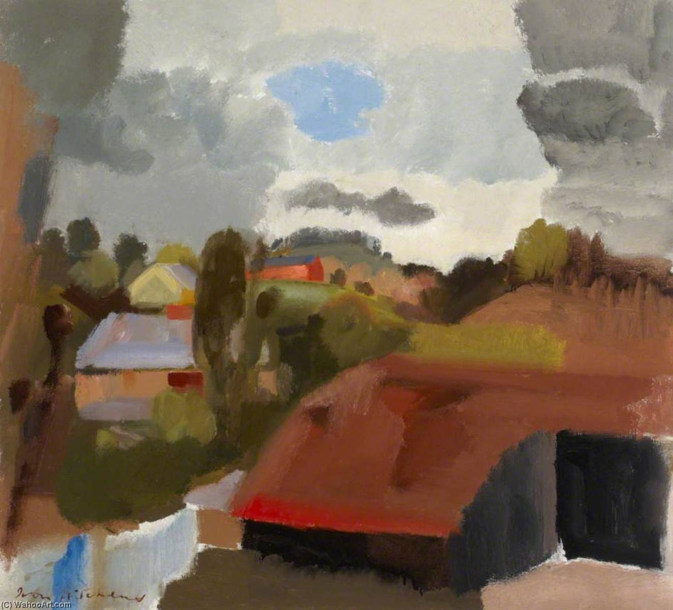 A Shropshire Landscape, 1931 by Ivon Hitchens | Art Reproduction | ArtsDot.com