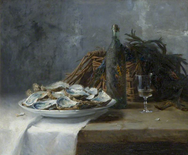 Still Life with Oysters by Hans Iten | Museum Art Reproductions | ArtsDot.com
