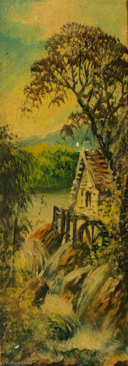 Watermill (finger plate) by Alfred Worthington | Painting Copy | ArtsDot.com