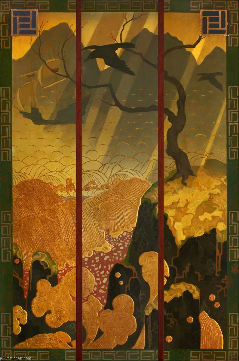 Panels from Crawford's Tearoom in Hanover Street, Edinburgh, 1927 by Robert Burns | Museum Quality Reproductions | ArtsDot.com