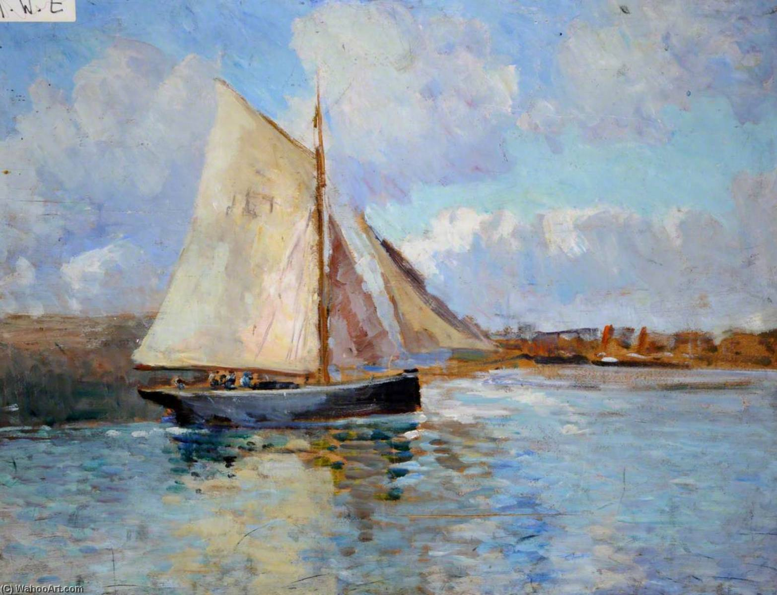 Sailing Boat (verso) by Francis William Synge Le Maistre | Painting Copy | ArtsDot.com