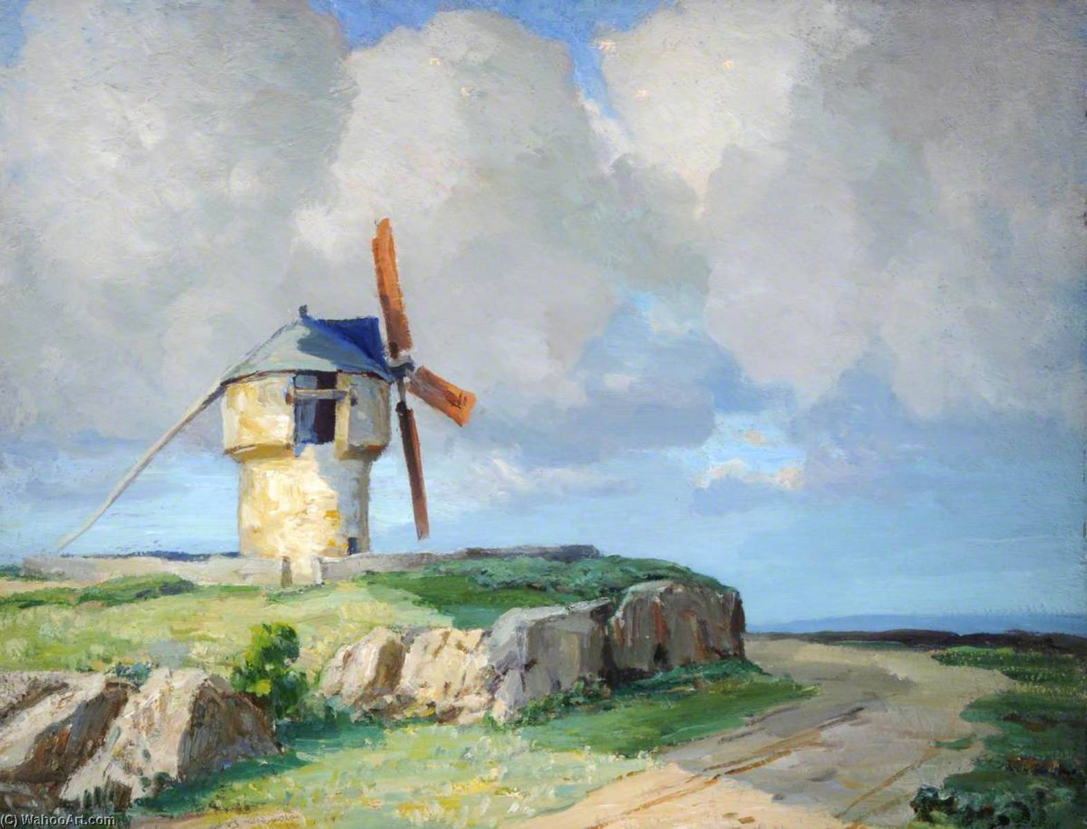 Old Mill, Sussex by Francis William Synge Le Maistre | Painting Copy | ArtsDot.com