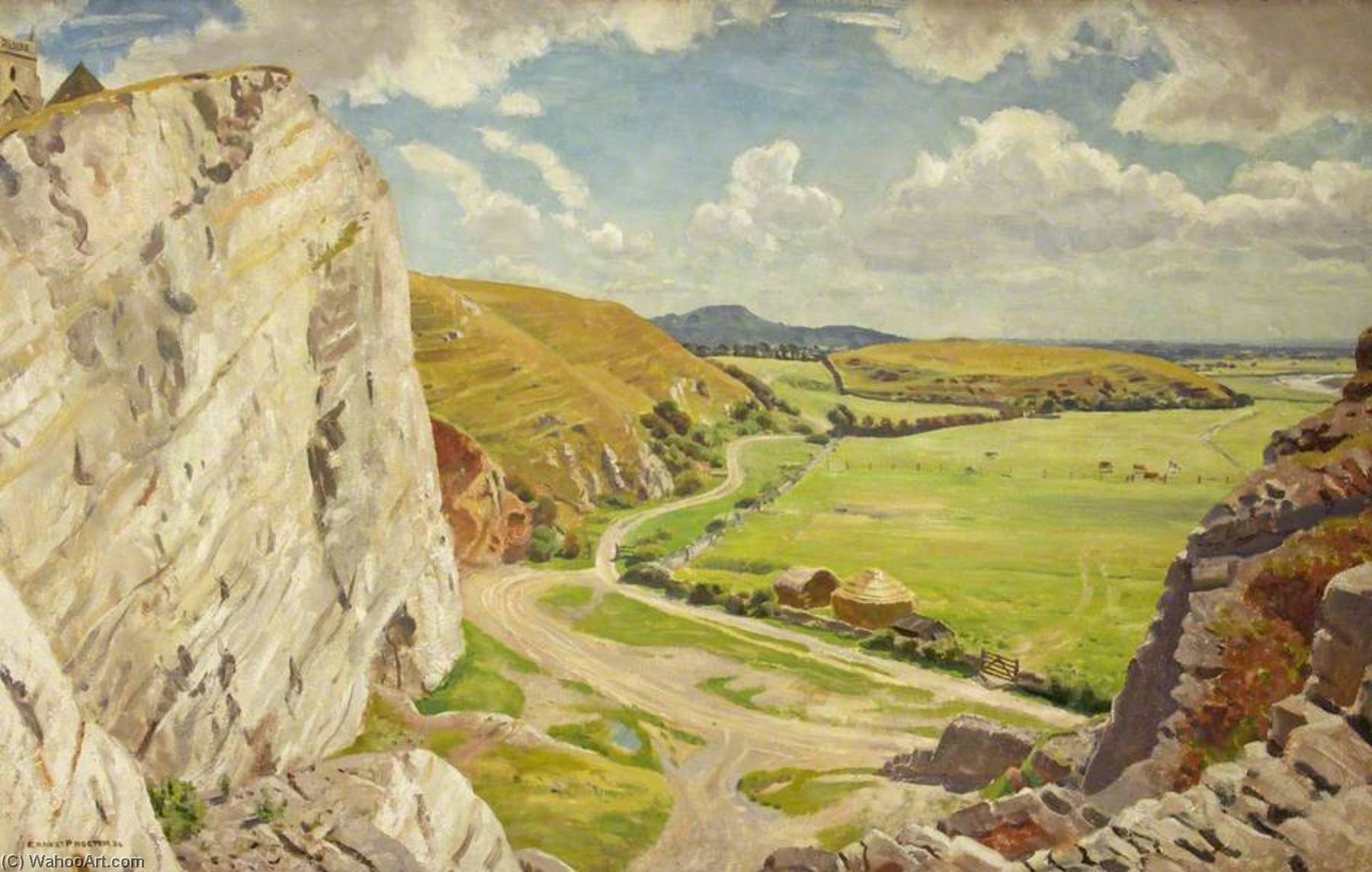Uphill from the North, 1934 by Ernest Procter | Art Reproduction | ArtsDot.com