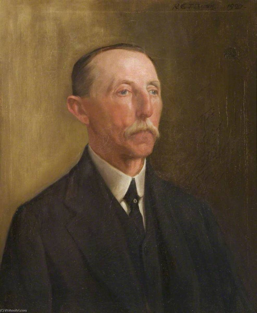 William Masters Davies, Long Serving Employee of the Wills Company, 1920 by Reginald Edgar James Bush | Museum Quality Reproductions | ArtsDot.com