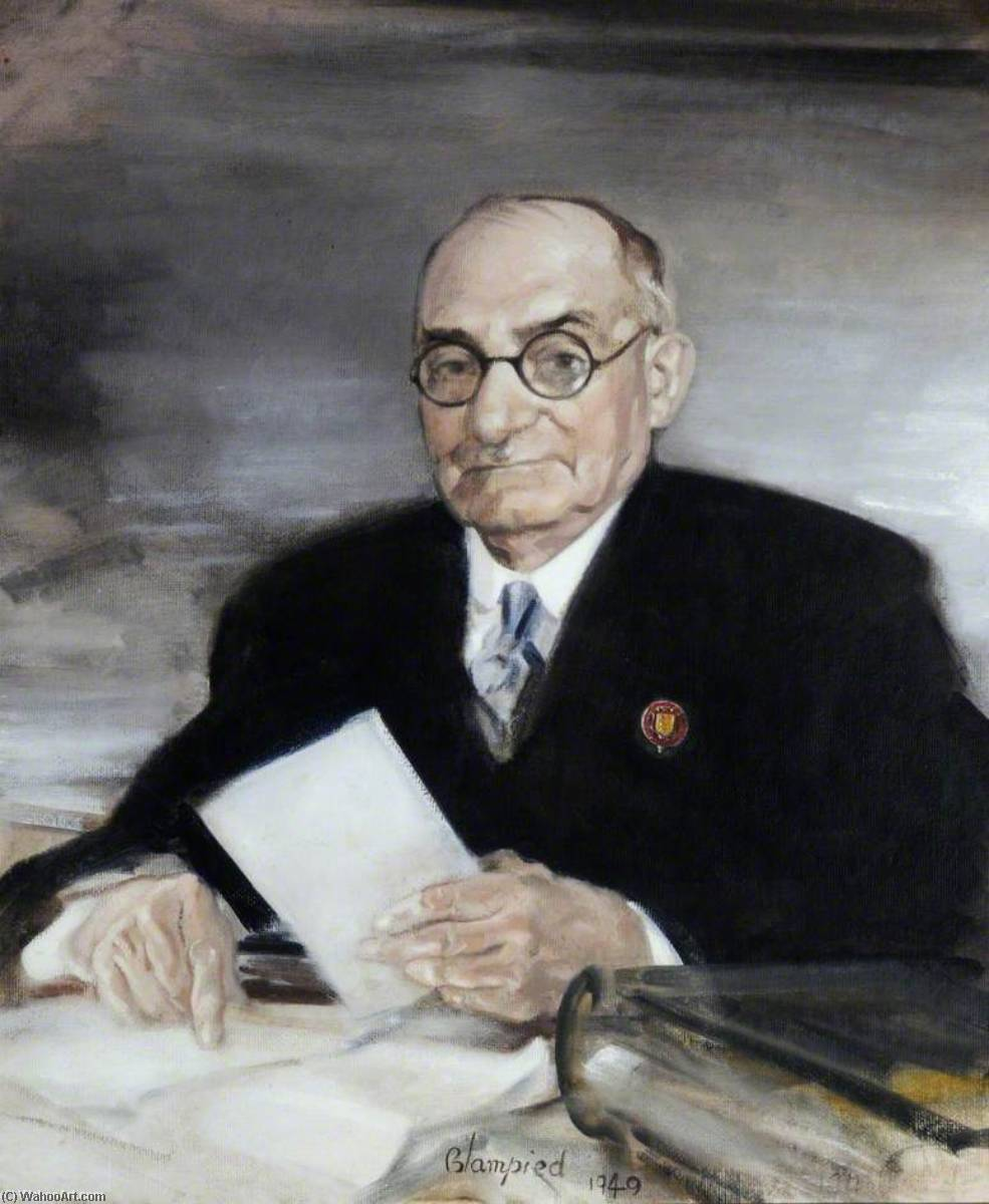 John W. Baudains, Esq., Constable of St Lawrence, 23 September, 1949 by Edmund Blampied | Museum Art Reproductions | ArtsDot.com