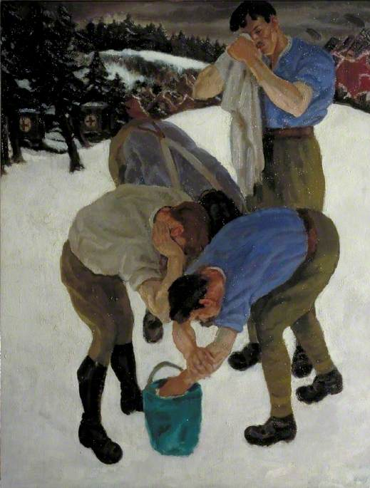Artillery Drivers in the Snow, Italian Front, 1918 by Neville Lewis | Museum Quality Reproductions | ArtsDot.com