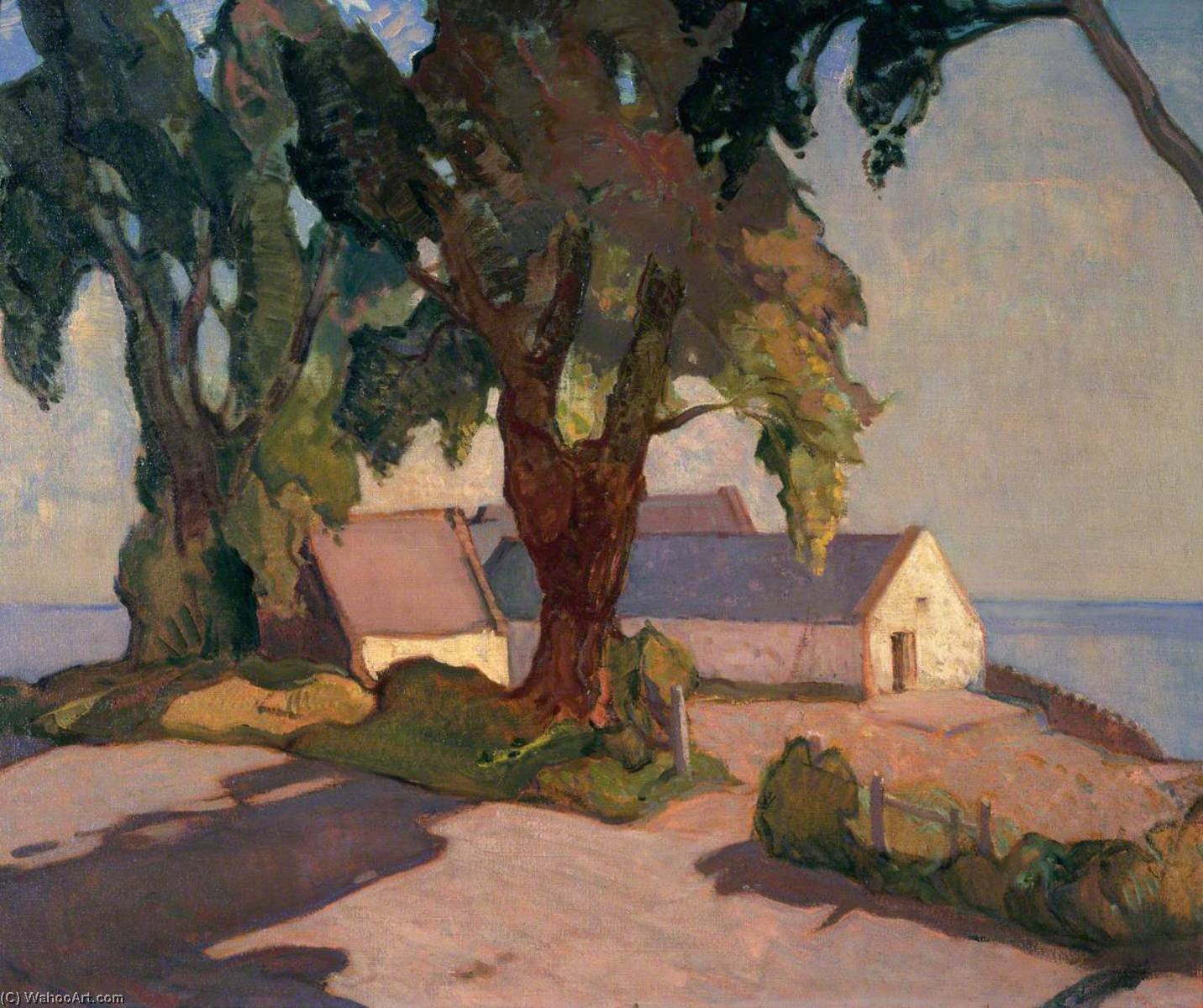 Buy Museum Art Reproductions : A Solway Farm by Alick Riddell Sturrock | ArtsDot.com