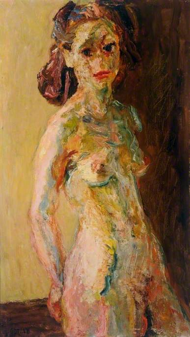 Nude, 1950 by Henryk Gotlib (1890-1966, United States) | Art Reproduction | ArtsDot.com