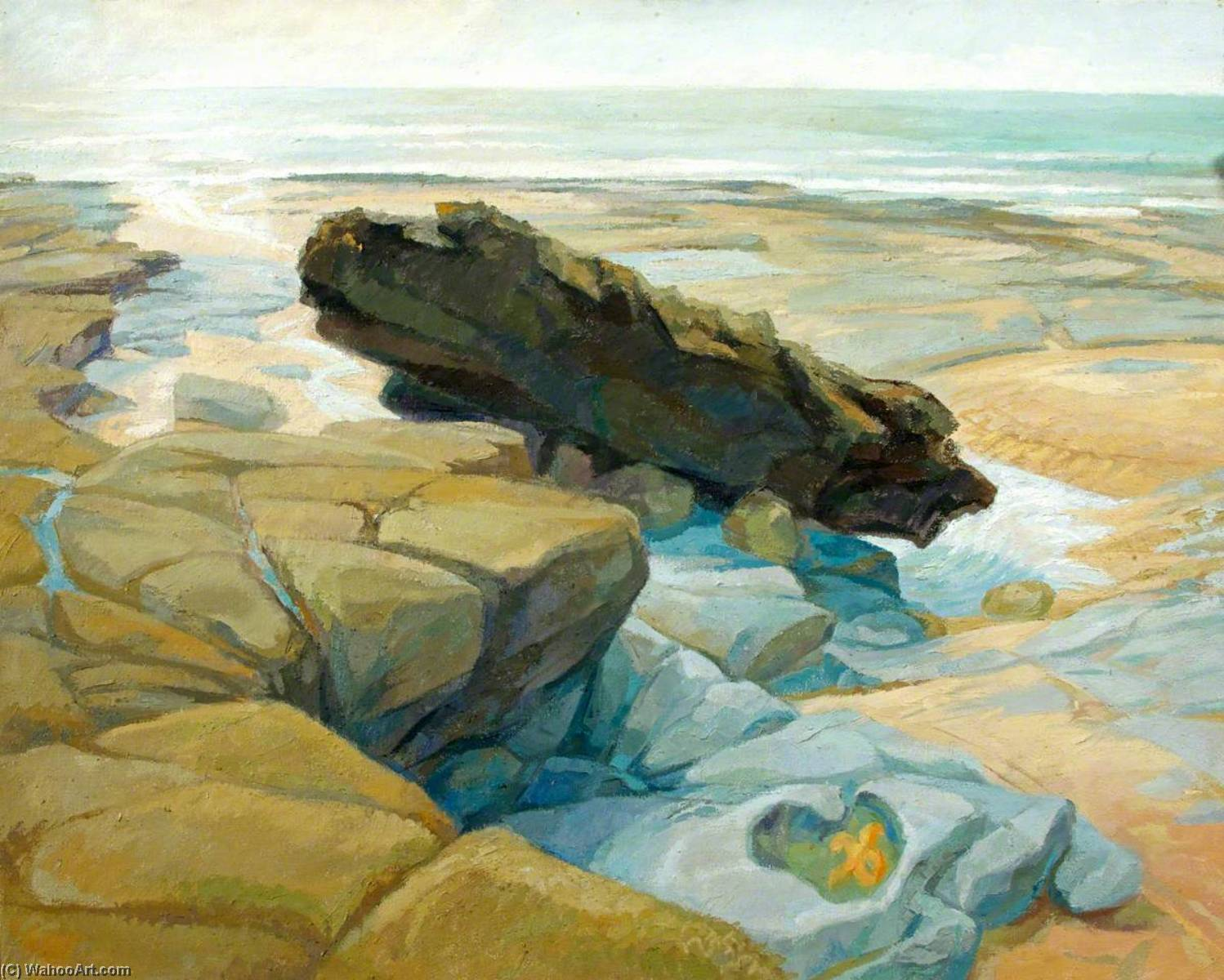 The Rock, Monknash West, 1989 by Joan Baker | Art Reproduction | ArtsDot.com