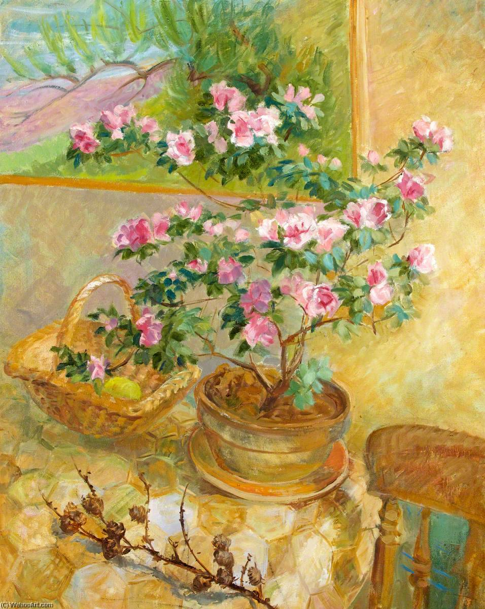 A Cold Spell (Azalea in the Warmth of the Kitchen), 1996 by Joan Baker | Art Reproduction | ArtsDot.com
