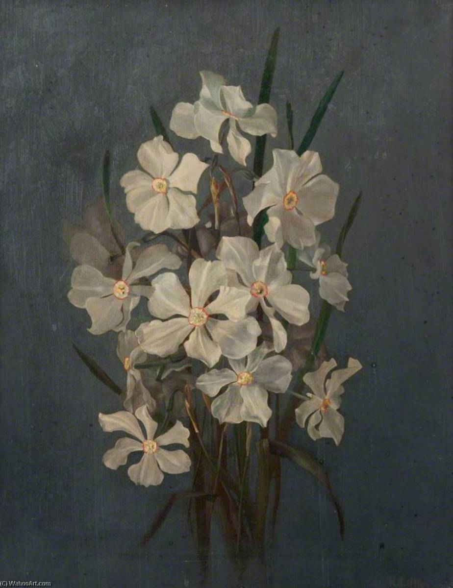 Flower Study, Narcissi by Robert Lillie | Art Reproduction | ArtsDot.com