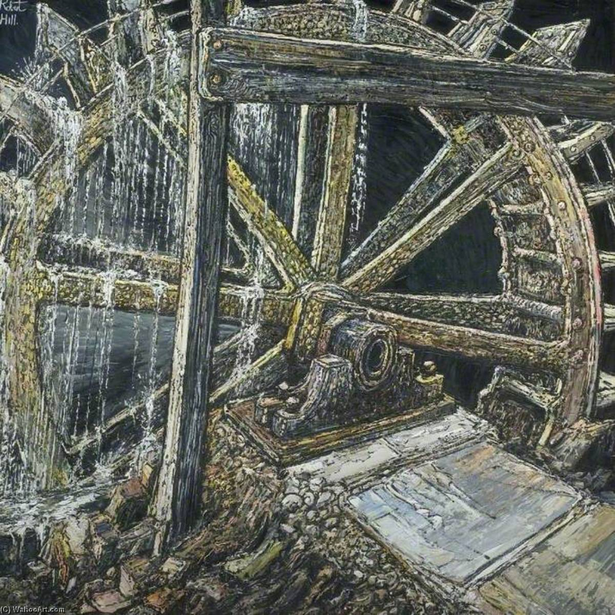 Buy Museum Art Reproductions : Waterwheel by Robert W Hill | ArtsDot.com