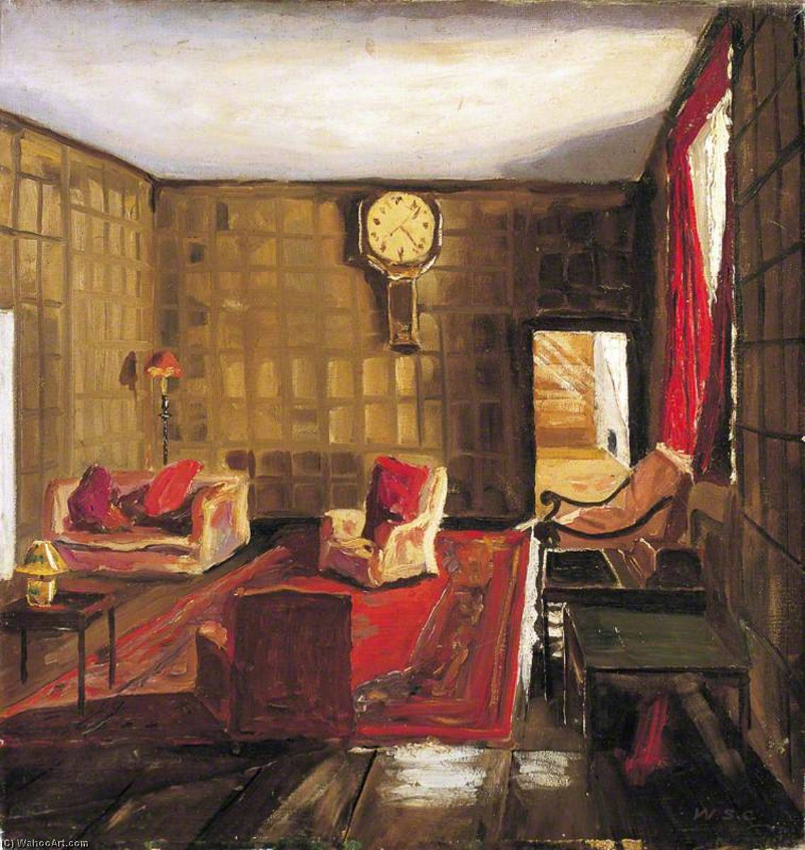 An Interior at Breccles Hall, Norfolk, 1935 by Winston Spencer Churchill (1874-1965) | Painting Copy | ArtsDot.com