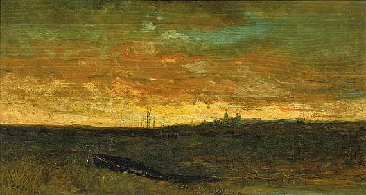 Buy Museum Art Reproductions : Sunset Scene, (painting), 1885 by Edward Mitchell Bannister (1828-1901, Canada) | ArtsDot.com