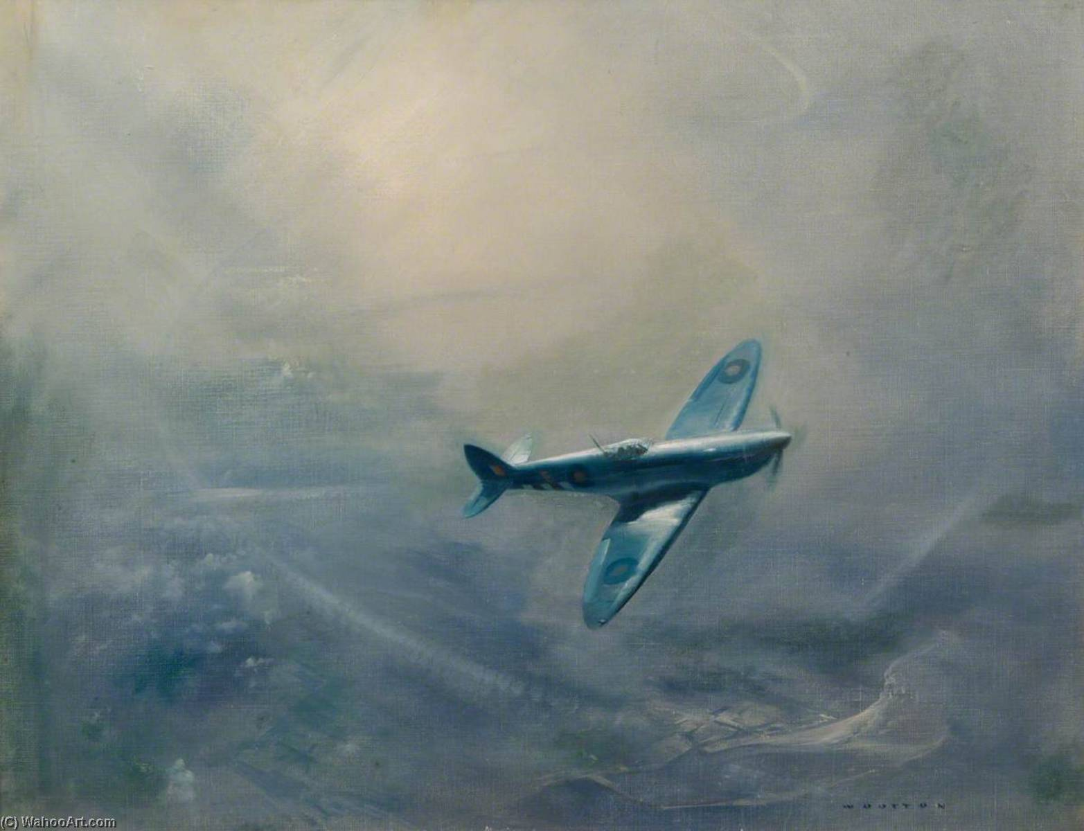The Blue Spitfire, 1944 by Frank Wootton | Art Reproduction | ArtsDot.com