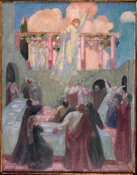 Le Christ apparaissant aux apôtres by Denis Maurice (1870-1943, France) | Museum Quality Reproductions | ArtsDot.com