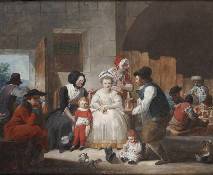 Scène d`intérieur by Jacques Gamelin (1738-1803) | Museum Quality Reproductions | ArtsDot.com