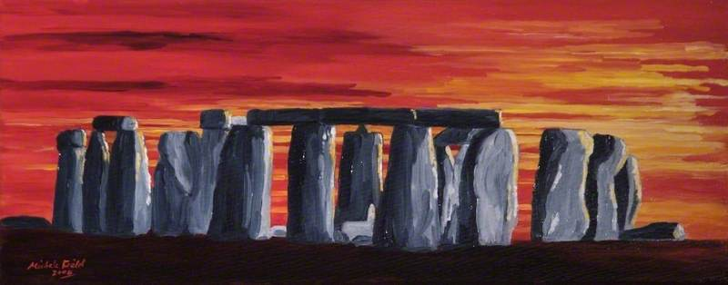 Red Stonehenge, 2004 by Michele Elizabeth Field | Museum Quality Reproductions | ArtsDot.com
