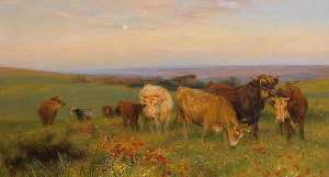 Henry William Banks Davis - Herd of Cows in a Blossom..