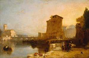 Augustus Wall Callcott - Entrance to Pisa from Leg..