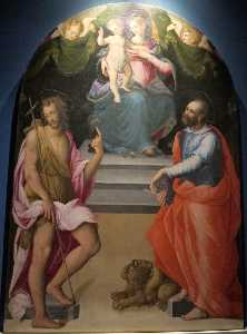 Niccolò Betti - Virgin and Child with Sts John the Baptist and Mark