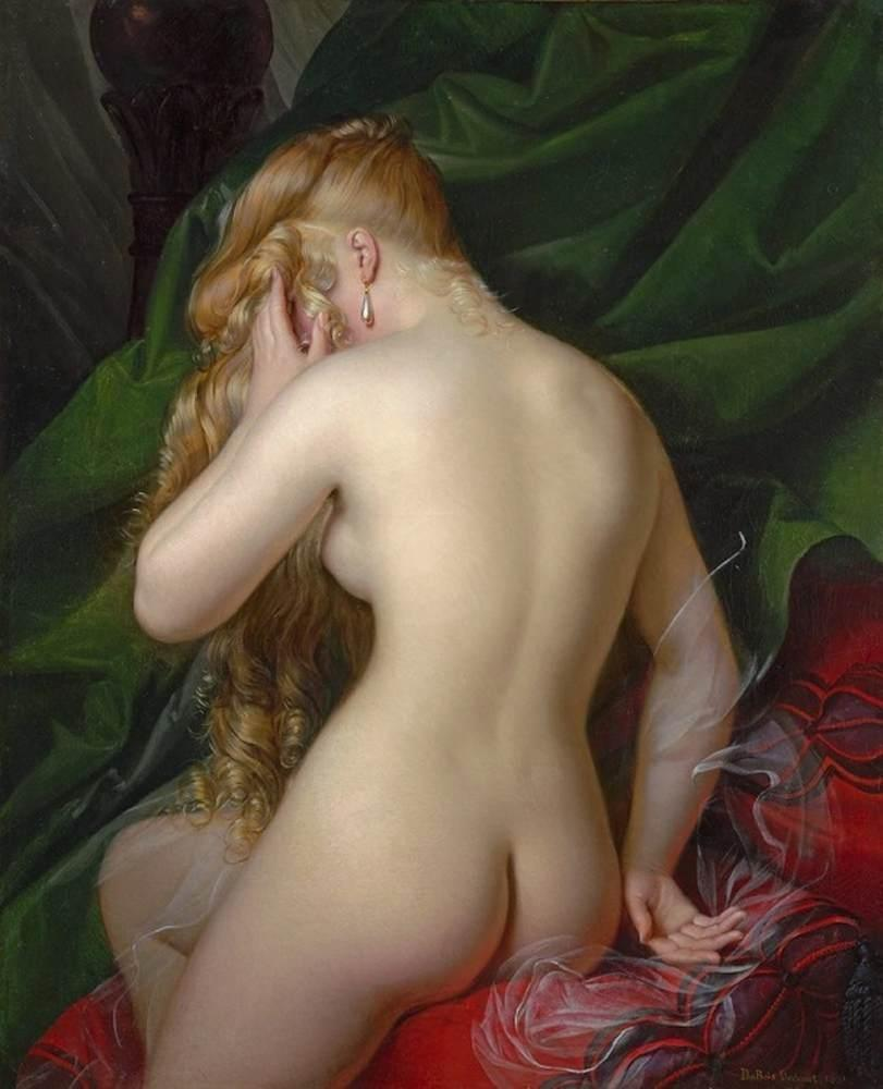 Female Nude, Back View, 1831 by Alexandre Jean Dubois Drahonet | Museum Quality Reproductions | ArtsDot.com