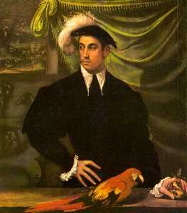 Niccolo Dell- Abate - Man with a Parrot