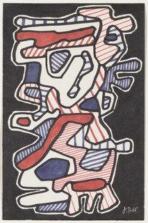 Le Gommeux, 1966 by Jean Philippe Arthur Dubuffet (1901-1985, France) | Museum Quality Reproductions | ArtsDot.com